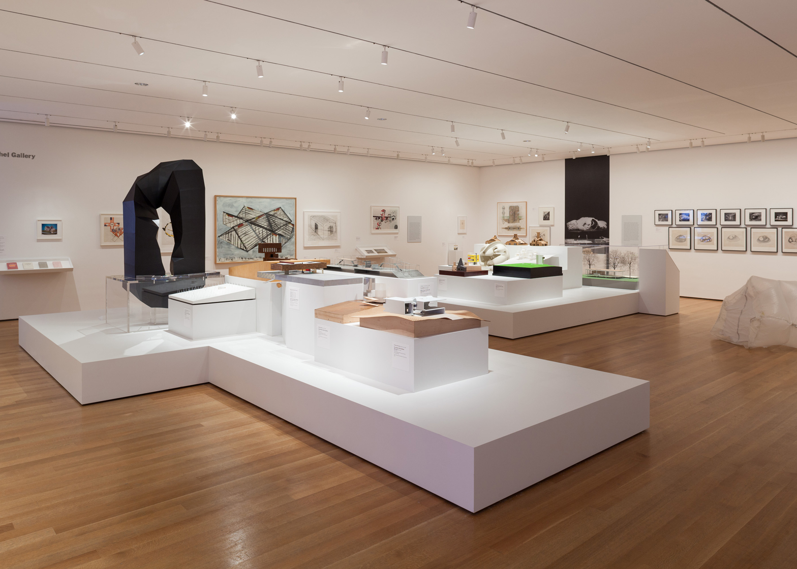 Installation view of Endless House: Intersections of Art and Architecture at The Museum of Modern Art, 2015