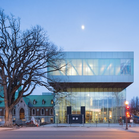 Major art museum extension by OMA underway in Quebec