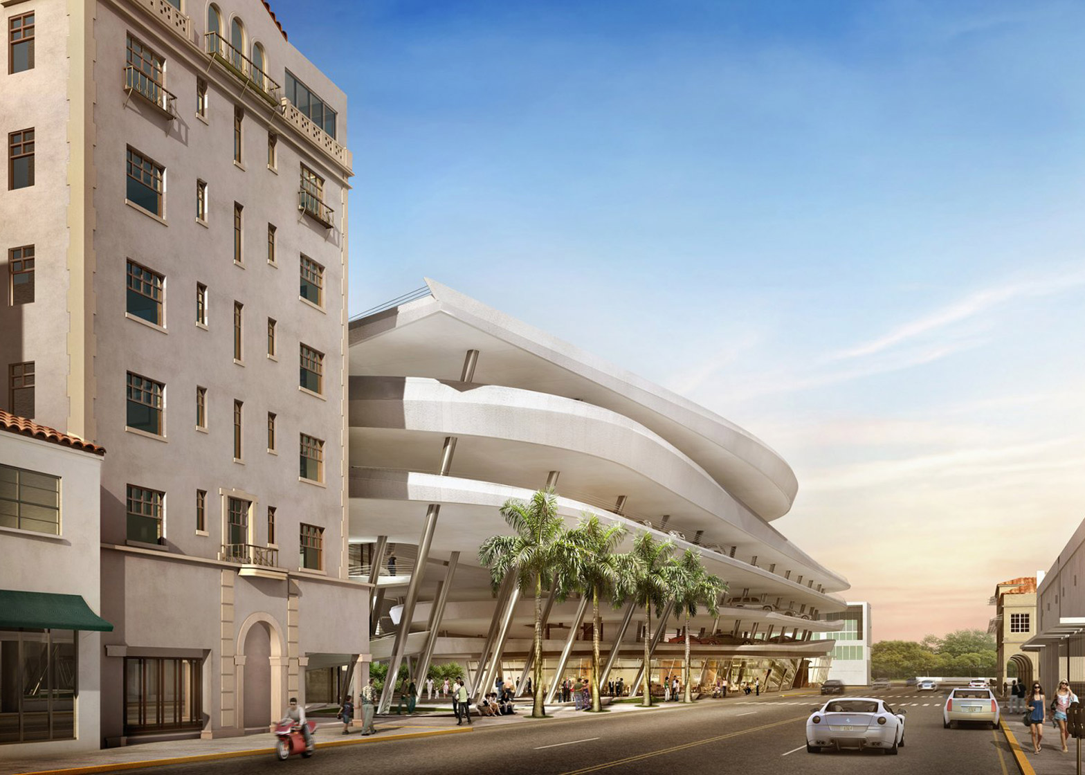 Zaha Hadid Miami parking lot rejected public architecture news USA