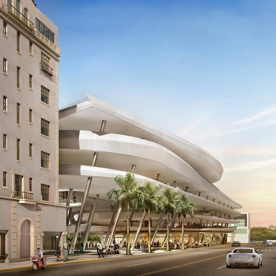 Zaha hadid s car park project in miami beach will not get for Hotel parking design