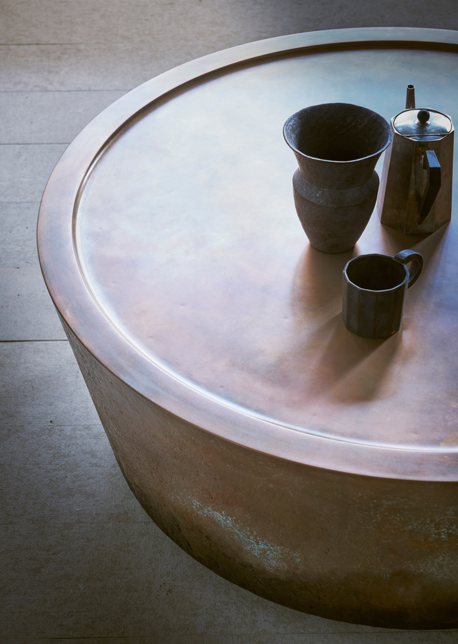 Nim copper and Jesmonite table by Pinch