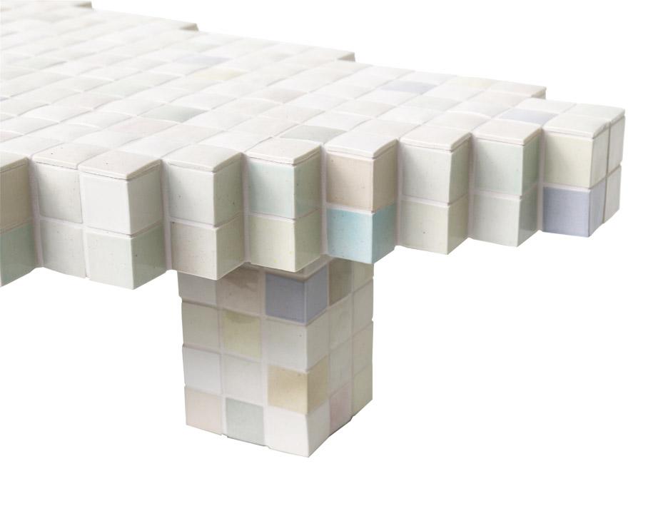 40x40 Ceramic Coffee Table by Piet Hein Eek