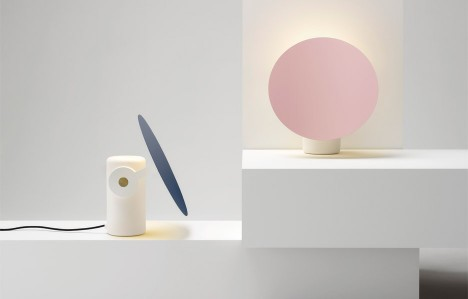 Ross Gardam's Polar desk lamp has a rotating metallic shade