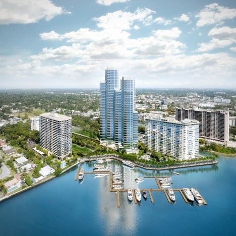 Rafael Moneo designs luxury condo towers for the Miami waterfront
