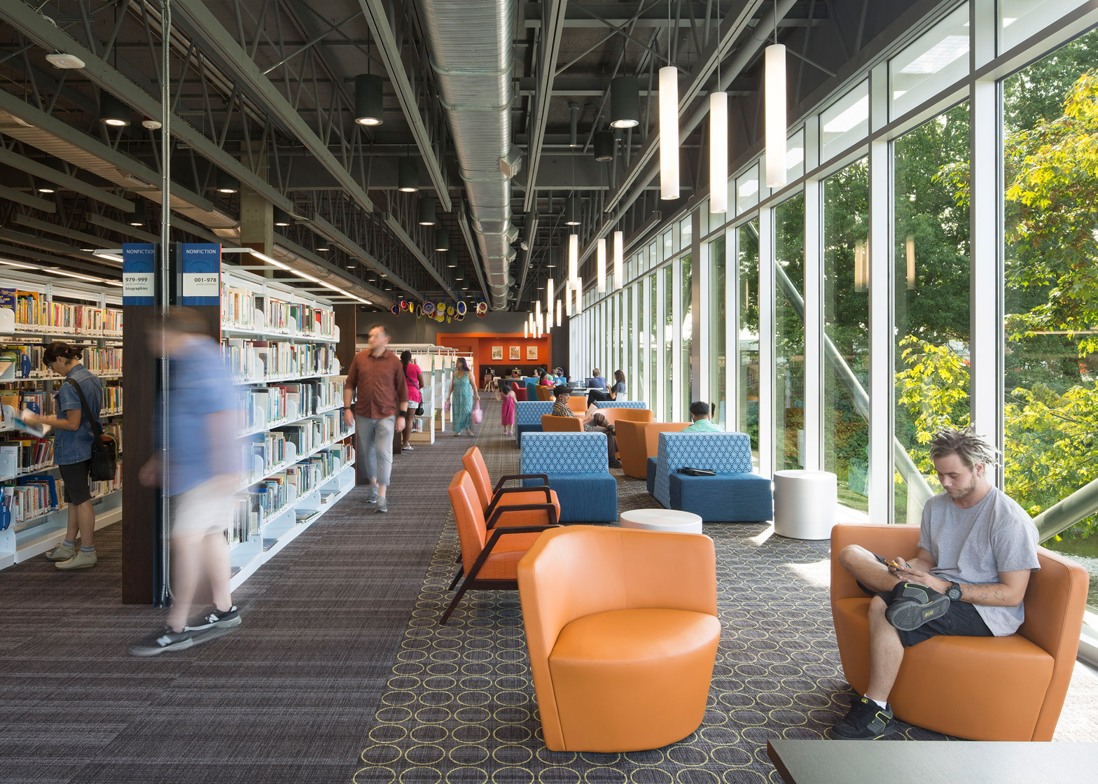 Renton Public Library; Renton, Washington, by The Miller Hull Partnership winner of the 2016 AIA library awards