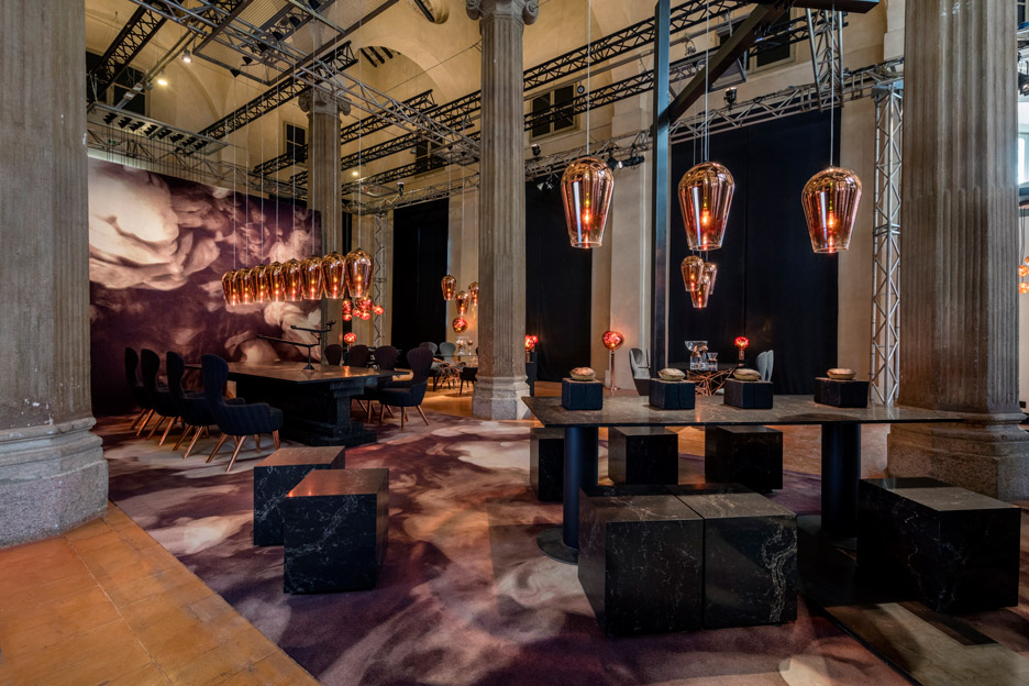 The Restaurant by Caesarstone and Tom Dixon in Milan design week 2016