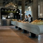 The Restaurant by Caesarstone and Tom Dixon opens in Milan's Rotonda della Besana church