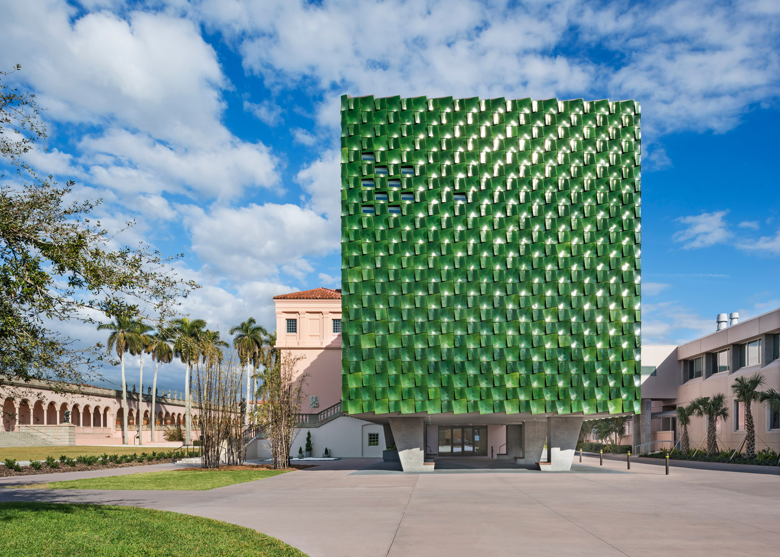 Machado Silvetti Clads Florida Museum Addition In Green Tiles