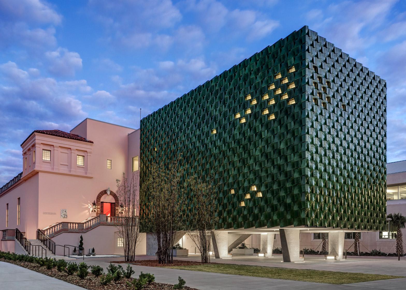 Machado Silvetti Clads Florida Museum Addition In Green Tiles