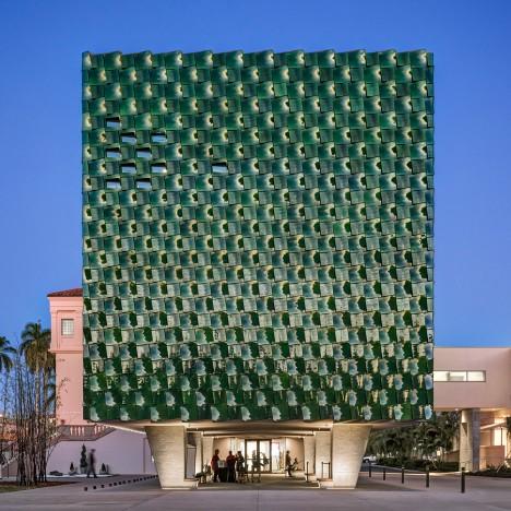 Machado Silvetti clads Florida museum extension in over 3,000 green ceramic tiles