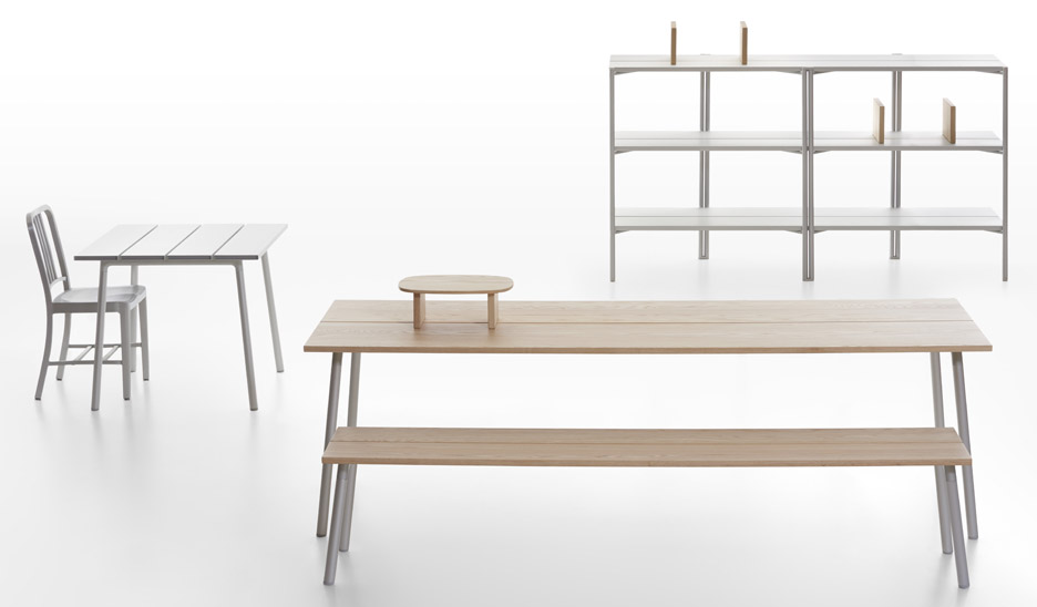 Industrial Facility designs plank-topped tables for Emeco