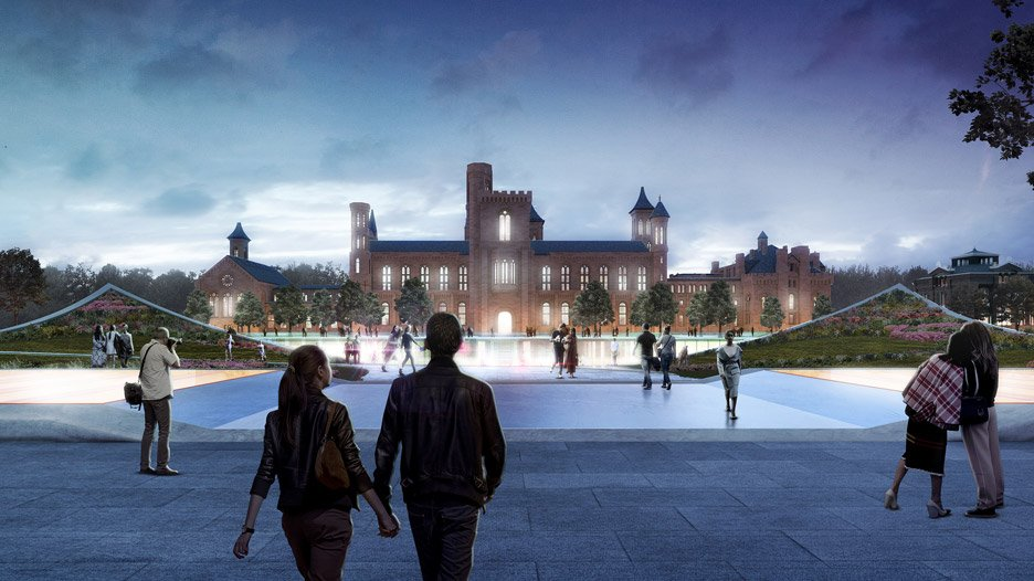 Opposition to BIG Bjarke Ingels masterplan for Smithsonian Institute in Washington DC, USA