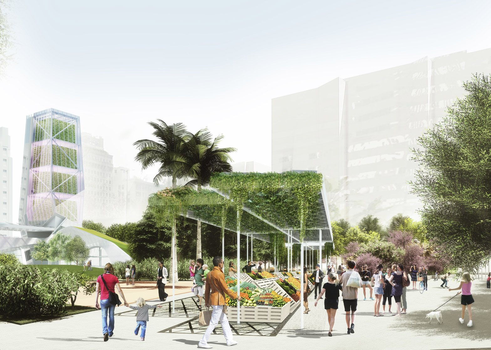 SWA and Morphosis Pershing square renovation proposal architecture news Los Angeles LA USA