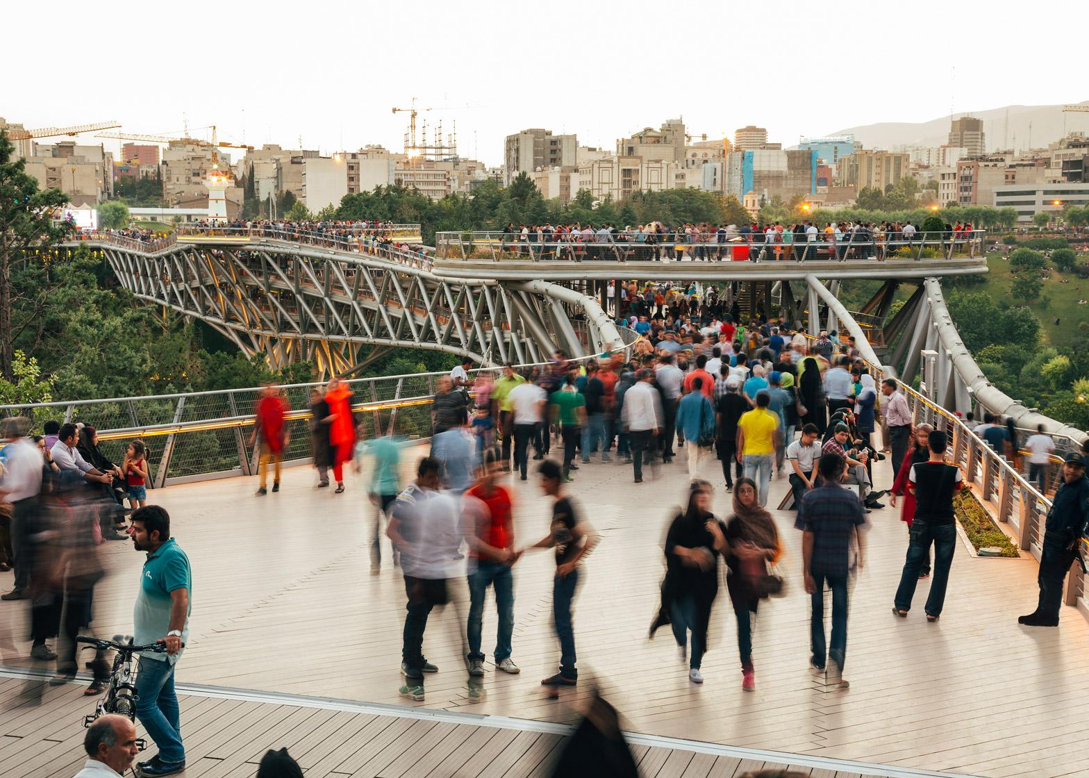 Tabiat Bridge by Diba Tensile Architecture in Tehran, Iran