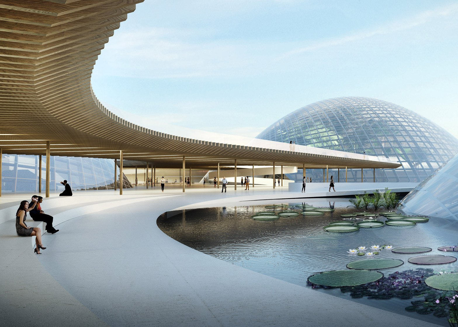 Domed Greenhouses Centrepiece Of Botanic Garden Proposal By