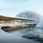 Domed greenhouses form heart of botanic garden design by Delugan Meissl