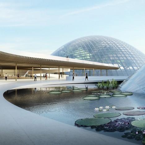 Domed greenhouses form heart of botanic garden design by Delugan Meissl