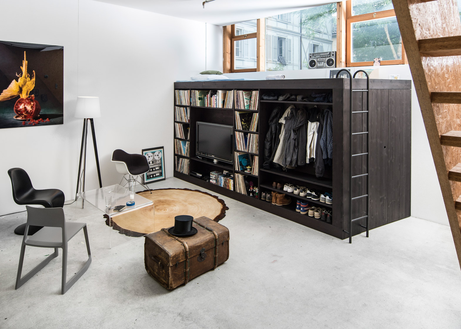 dezeen magazine bespoke furniture space saving furniture wooden