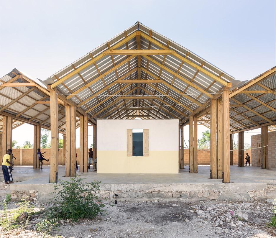 Freestanding roof spans Haiti orphanage by Bonaventura Visconti di Modrone