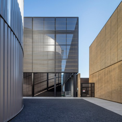 ZGF conceals a Stanford University power plant behind metal screens
