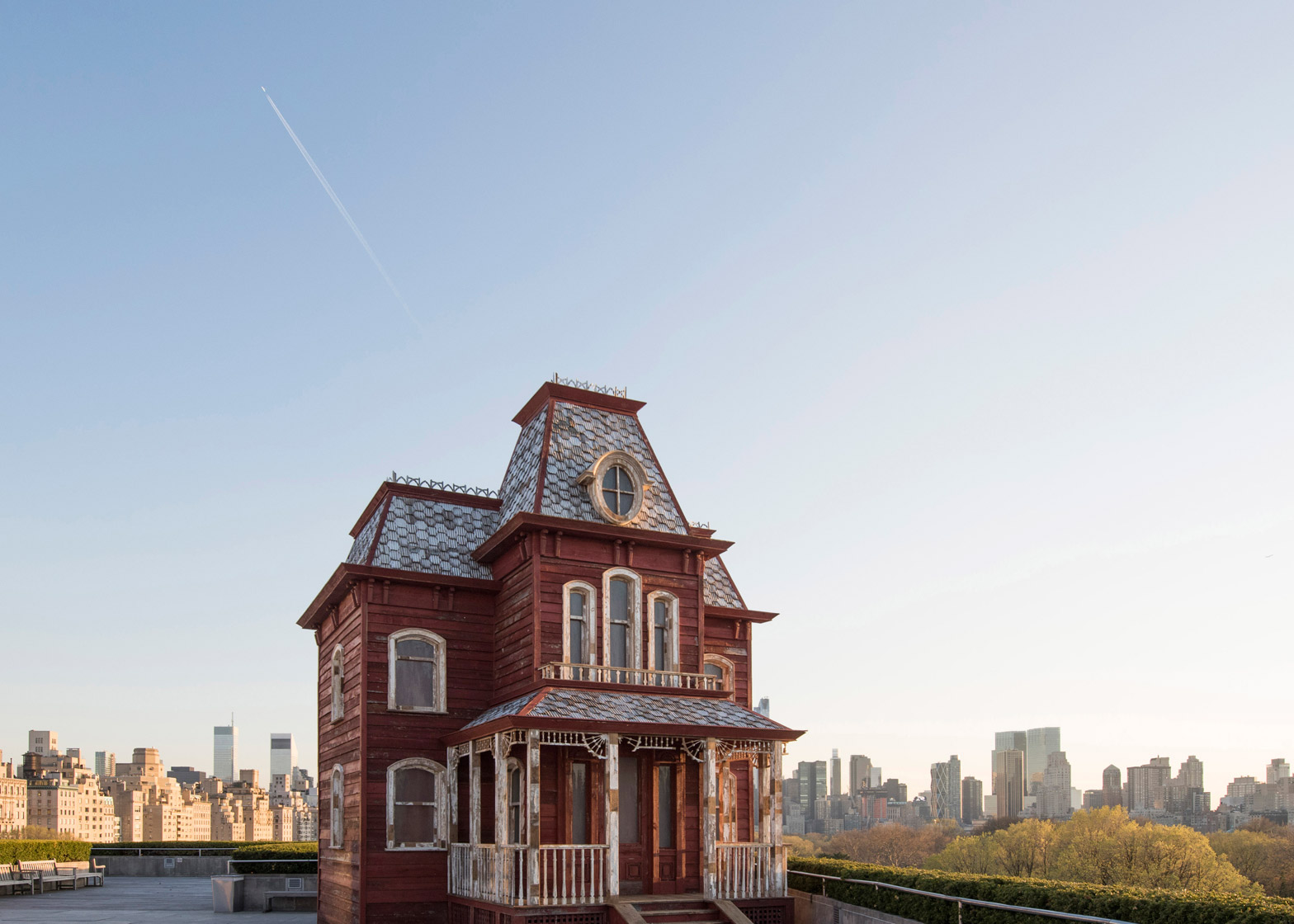 Transitional Object (PsychoBarn) by Cornelia Parker for Metropolitan Museum of Art Met roof garden installation in New York, USA