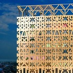 Anders Berensson proposes wooden skyscraper with decorative facade for Stockholm