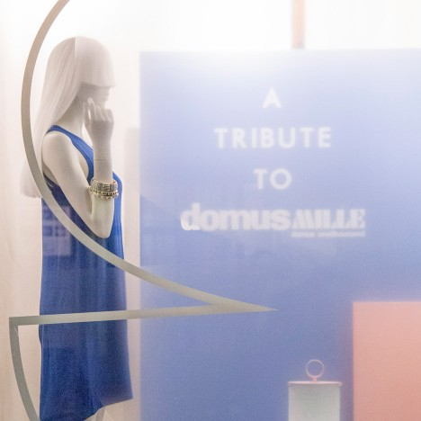 Fabrica celebrates Domus anniversary with two-tone window display
