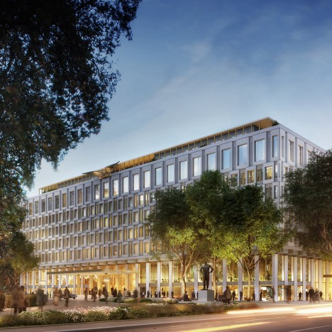 David Chipperfield reveals plans to convert US Embassy into Mayfair hotel