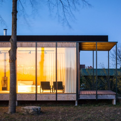 Belgian holiday house by GAFPA takes its cues from Japanese architecture