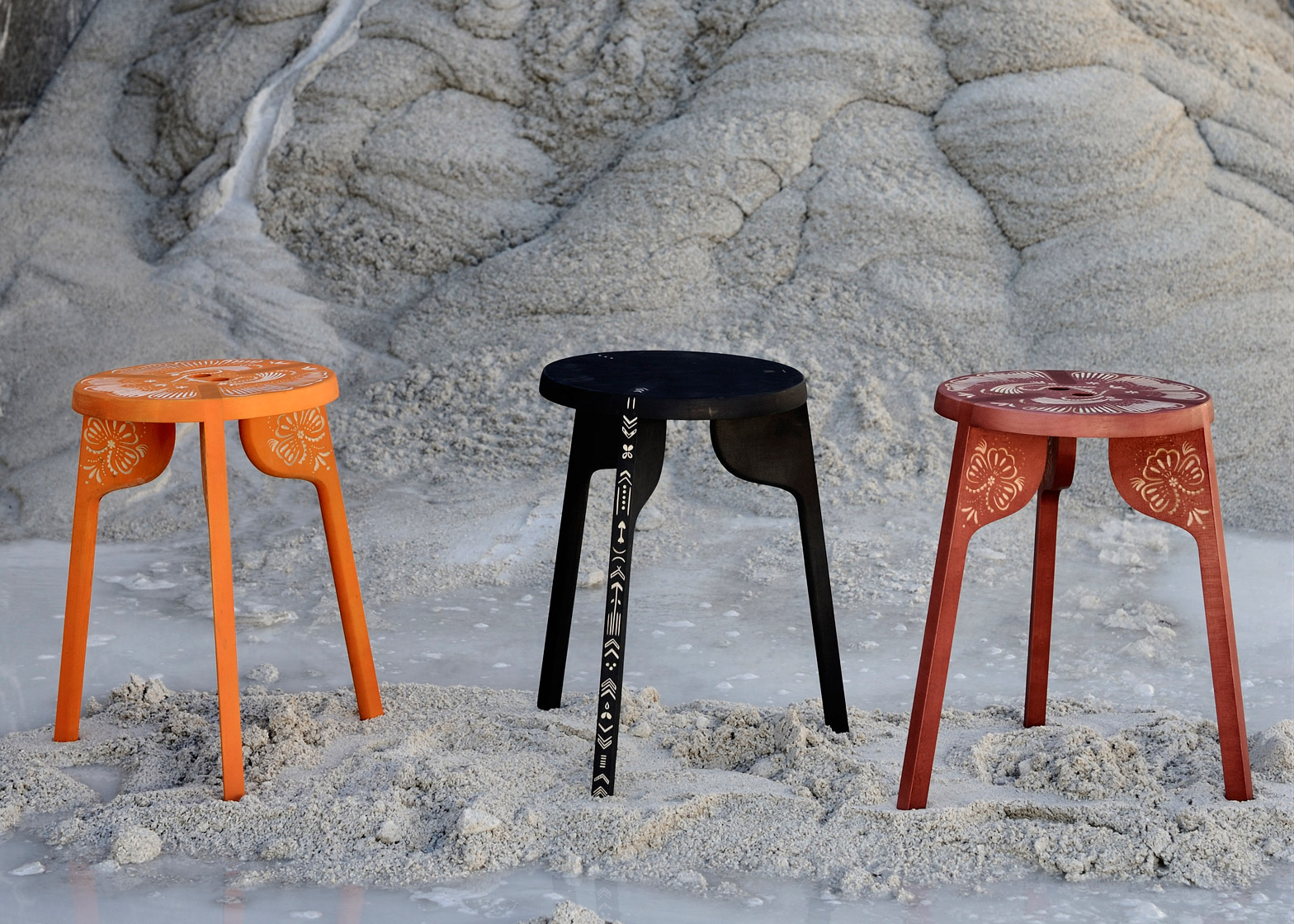 Stool by Wingårdhs for Zanat wood furniture design crafts