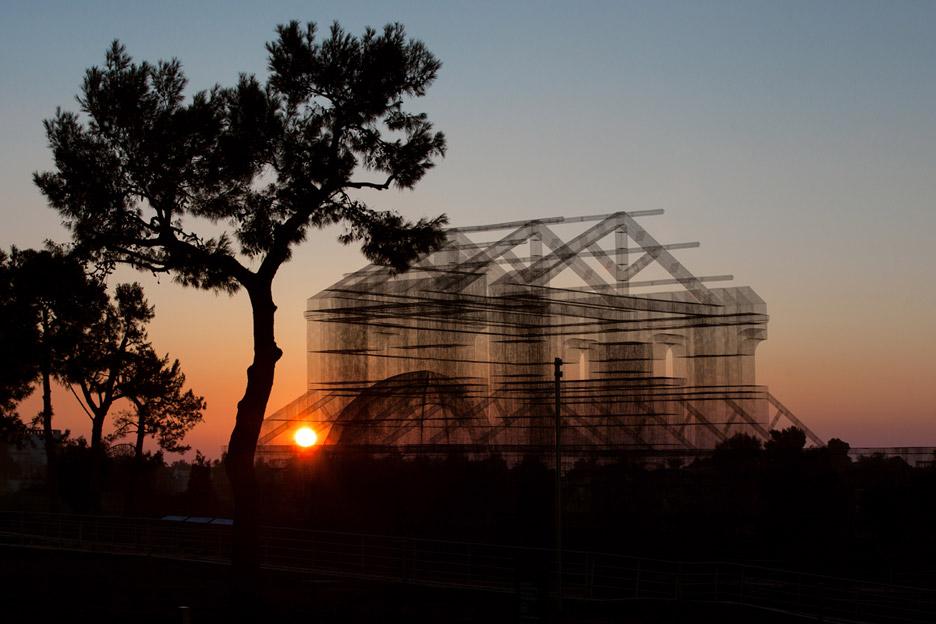 Wire installation by Edoardo Tresoldi