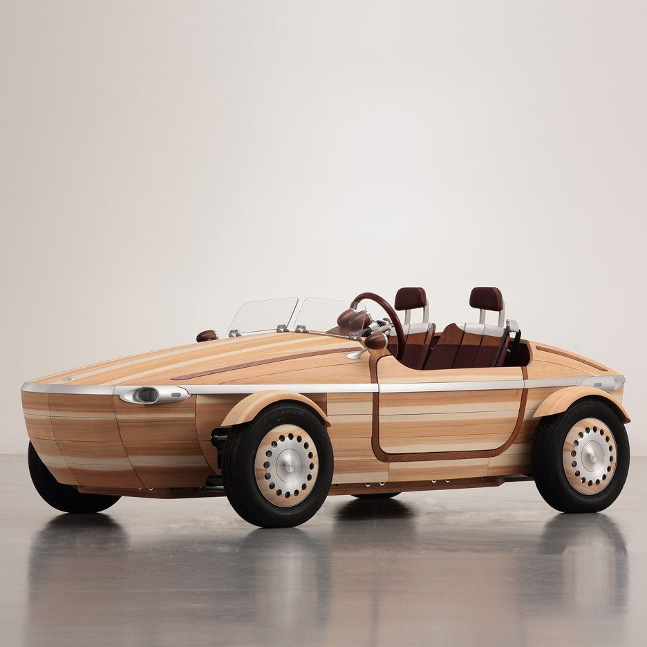 Toyota snubs high-tech cars in favour of wooden concept for Milan design week