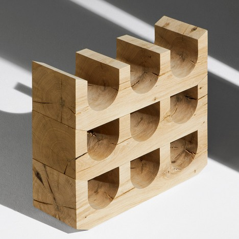 ÉCAL students use wood offcuts to create objects based on e15 stool
