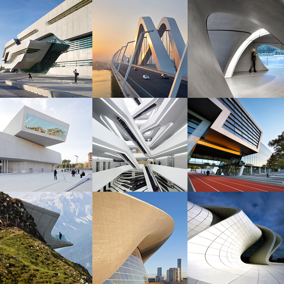 Dezeen's Pinterest board pays tribute to Zaha Hadid