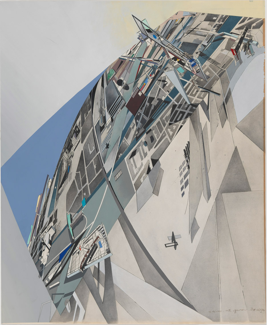 The World (89 Degrees), 1984 by Zaha Hadid, from the Alvin Boyarsky Archive