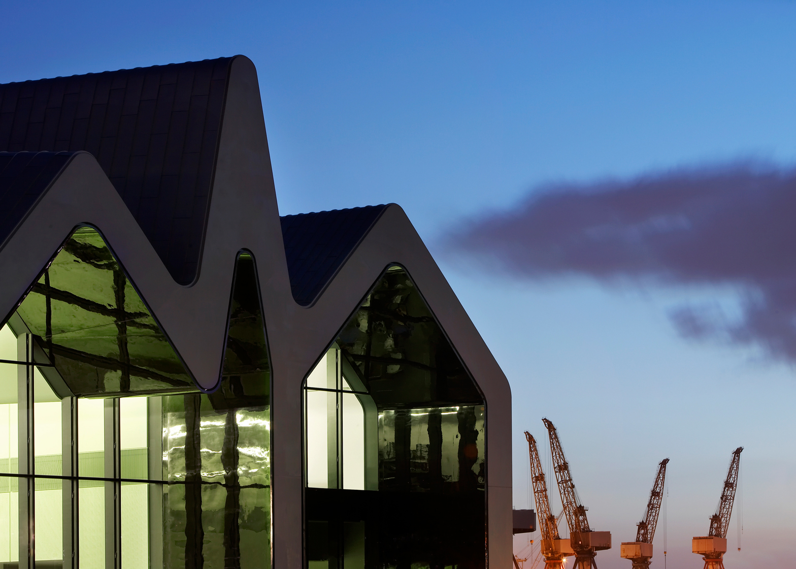 Glasgow Riverside Museum by Zaha Hadid