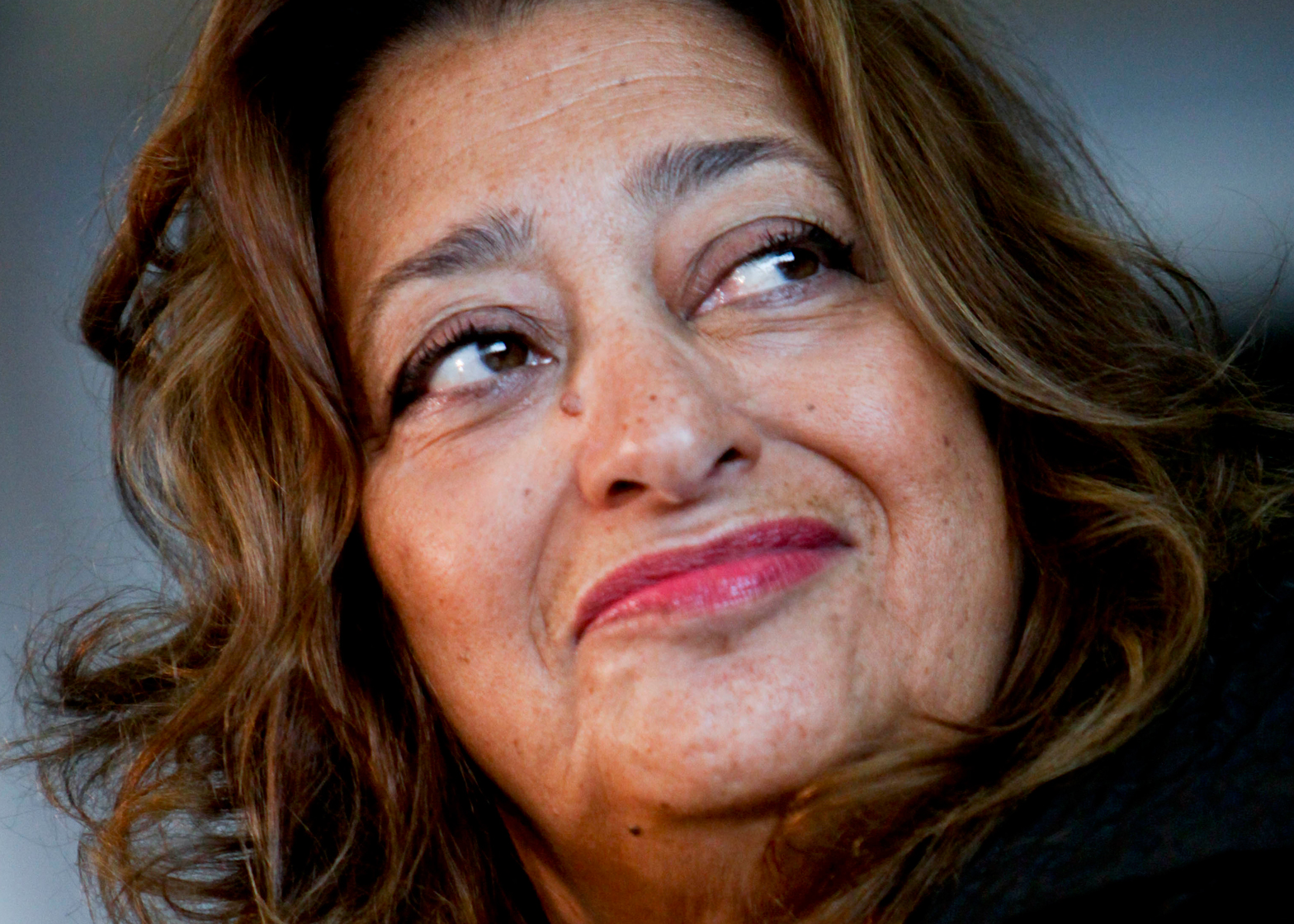 Zaha Hadid portrait by Simone Cecchetti