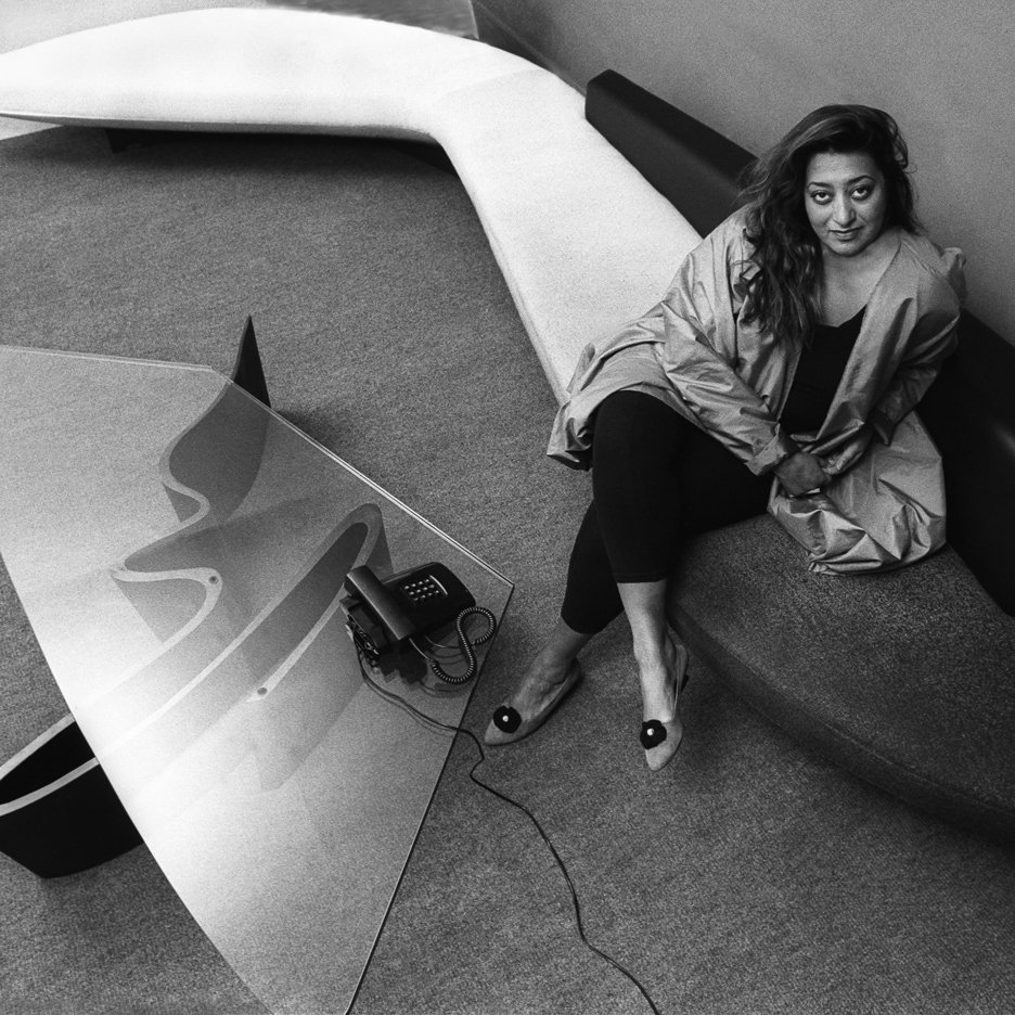 Zaha Hadid in her London office circa 1985