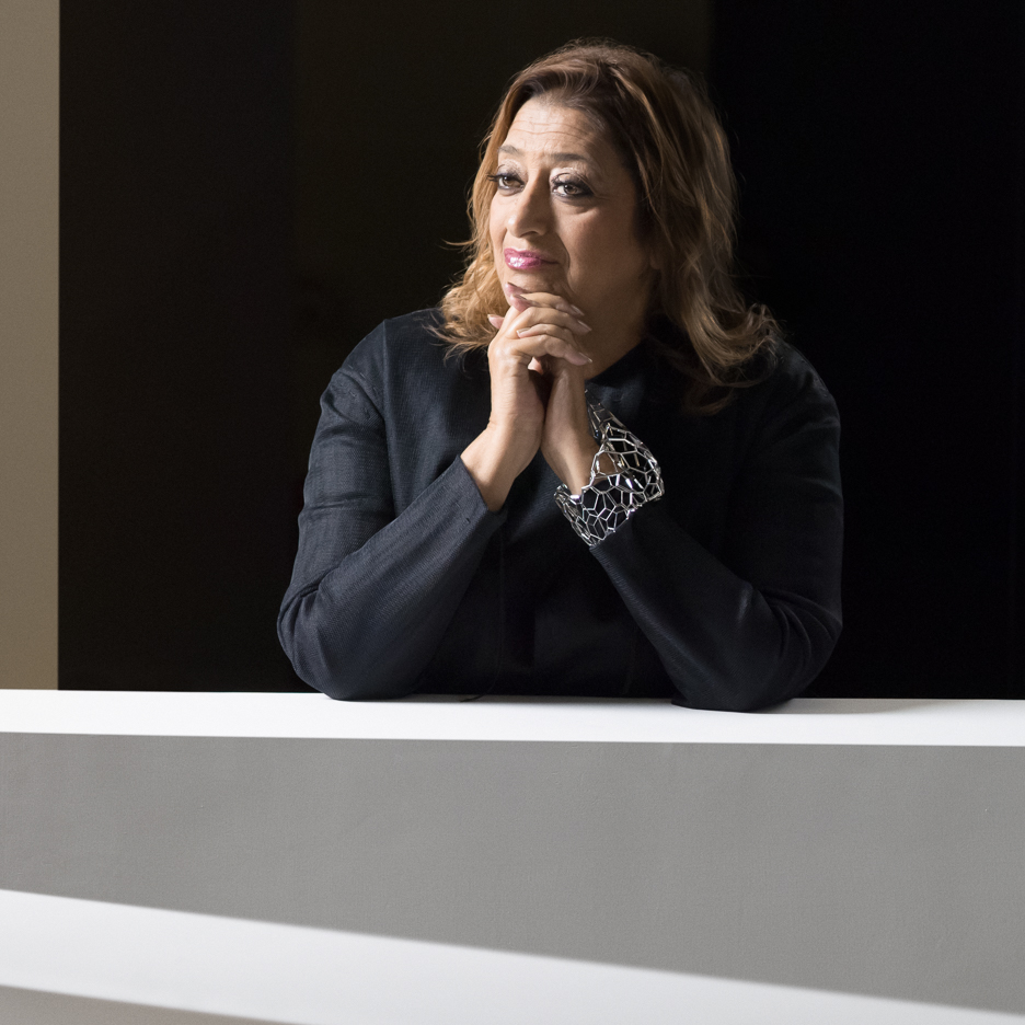 Portrait of Zaha Hadid by Virgile Simon Bertrand