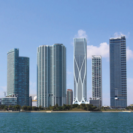 1000 Museum residential tower by Zaha Hadid in Miami, Florida, USA