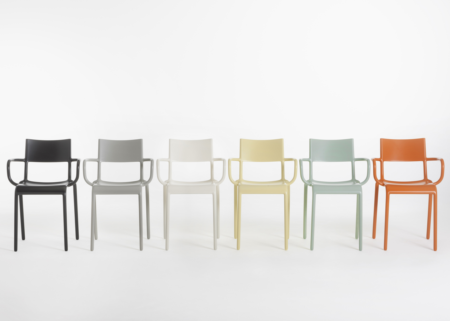 Generic chairs A and C by Philippe Starck for Kartell