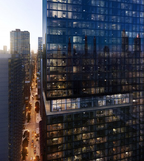 Richard Meier unveils black tower for Manhattan at 685 First Avenue