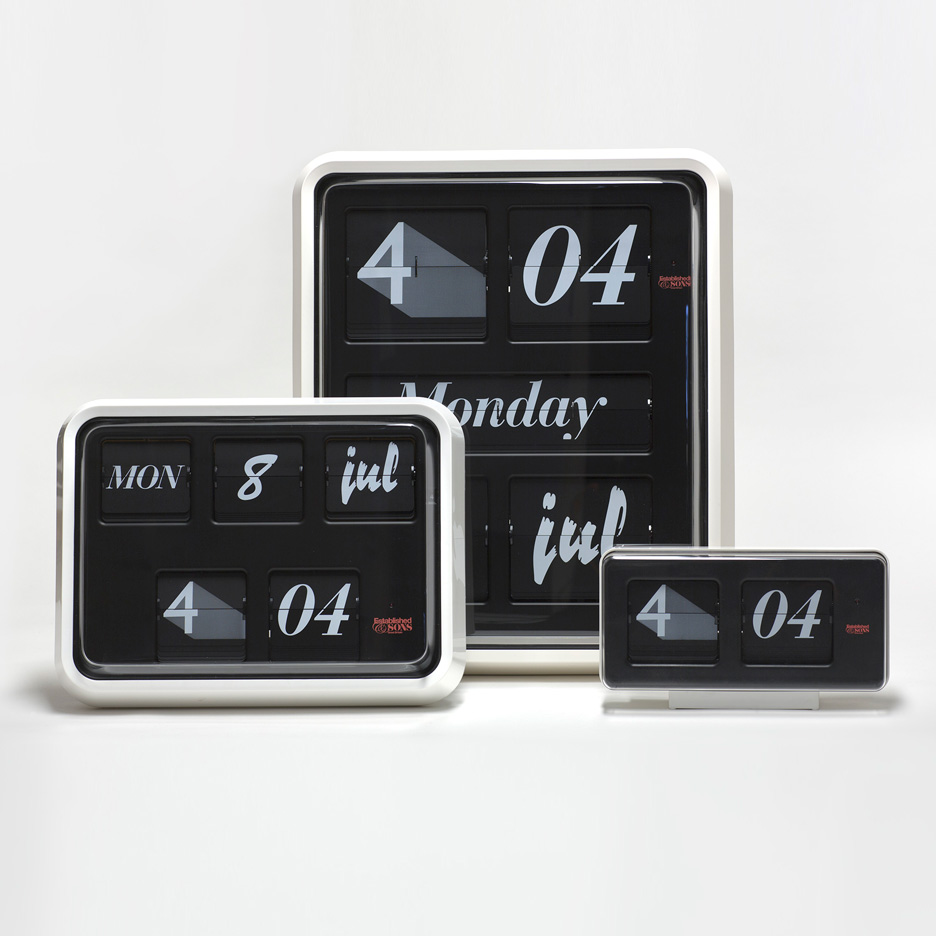 Font Clock by Sebastian Wrong for Established & Sons