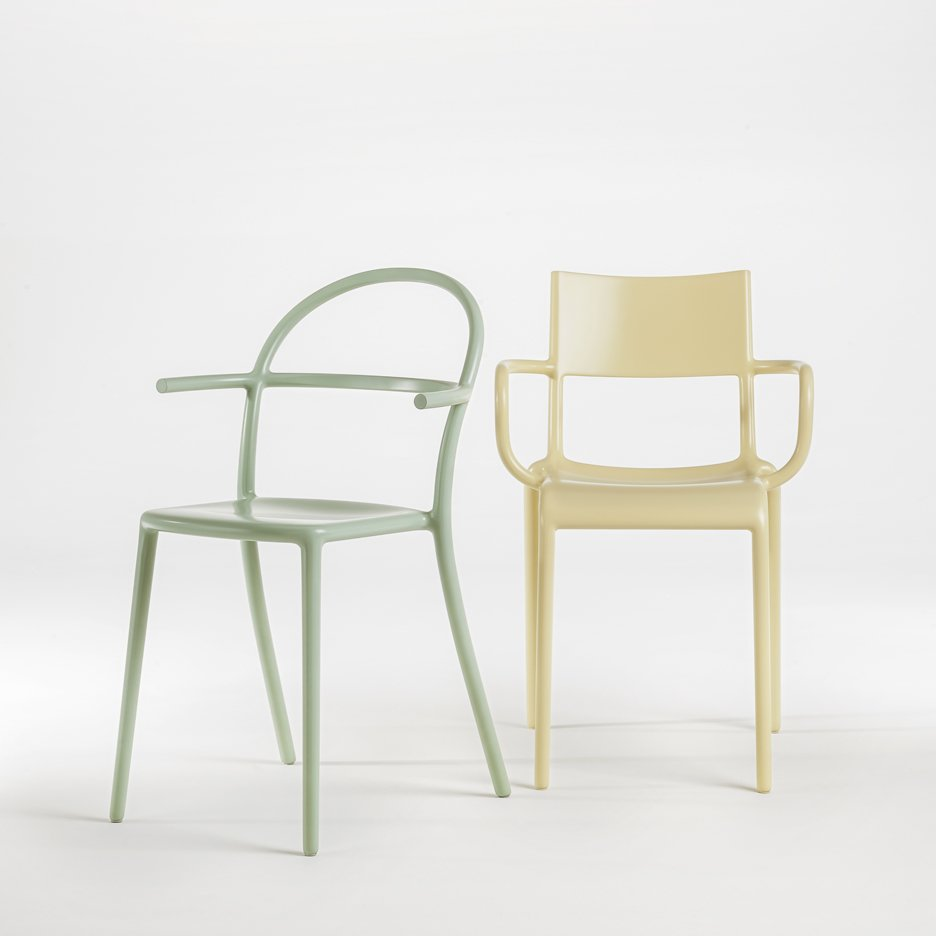 Generic chairs A and C by Starck for Kartell