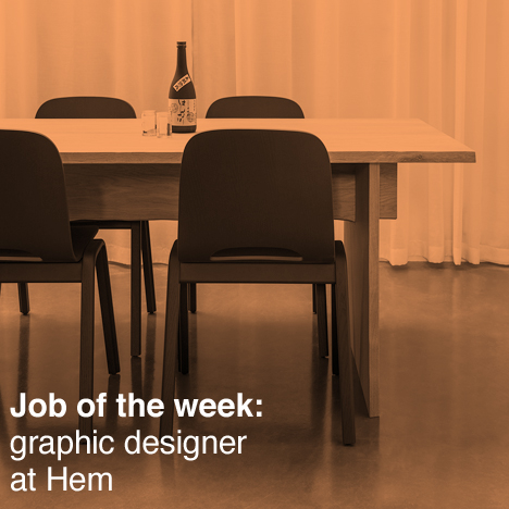 Dezeen job of the week