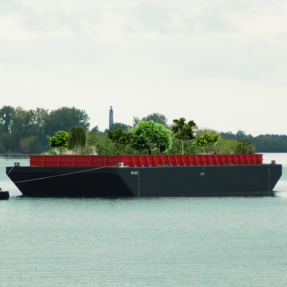 """Floating food forest"" proposed for New York's waterways"