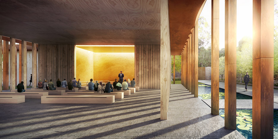 Acacia Remembrance Sanctuary in Sydney by CHROFI and McGregor Coxall uses GPS Tracking to find graves