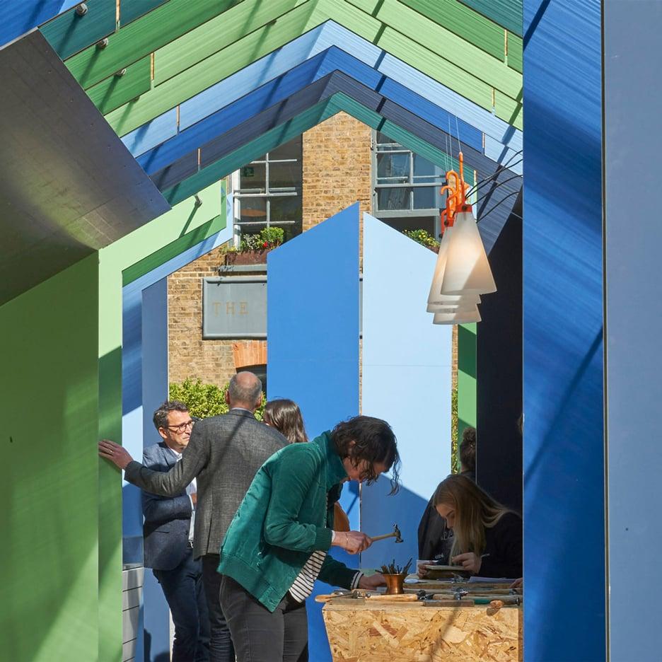 White Arkitekter creates Museum of Making pavilion for Clerkenwell Design Week