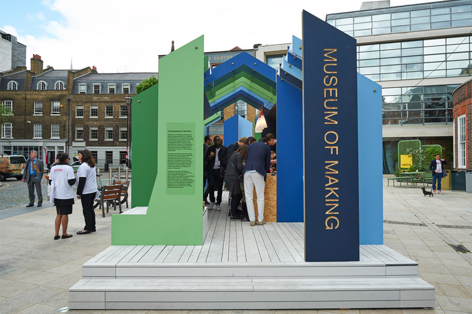 Architecture at Clerkenwell Design Week 2016: Museum of Making pavilion by White Arkitekten