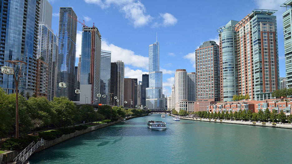 Aerial cable car in Chicago by Marks Barfield architects